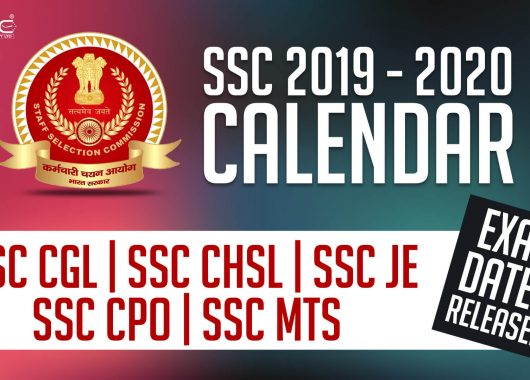 SSC Exam Calendar 2020 - 2021 Released - Check PDF