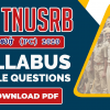 TNUSRB PC Syllabus 2020 - Syllabus [PDF] - Download