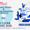 CURRENT AFFAIRS & BANKING AWARENESS CAPSULE FOR SBI CLERK MAINS 2020