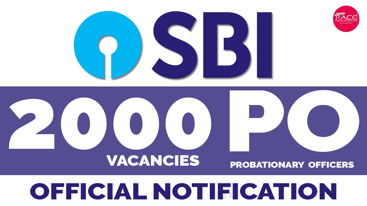 SBI PO 2020 Notification Released : 2000 Vacancies