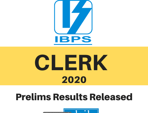 IBPS CLERK Prelims 2020 Results Released - Bankersdaily