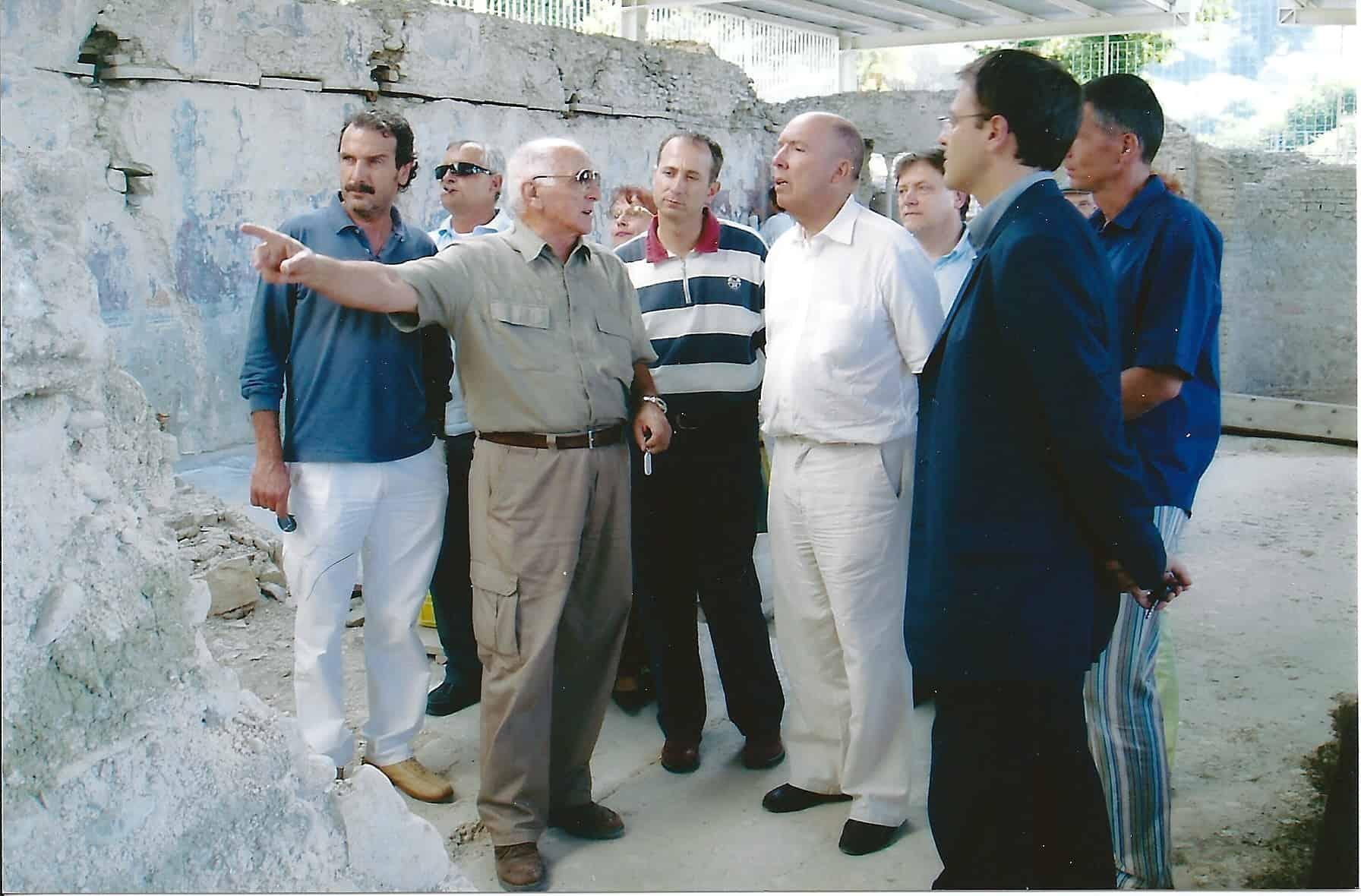 Umberto Migliorelli e il prof. Andrè Laronde a Urbs Salvia