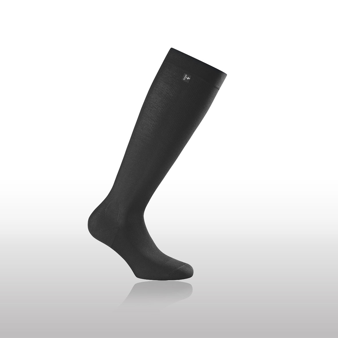 Kompressionssocke Everyday, Rohner Socken, schwarz