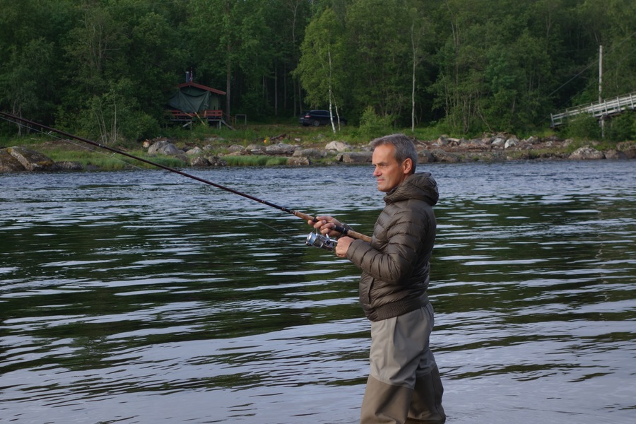 Salmon fishing in Norway