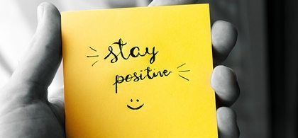 9. stay positive