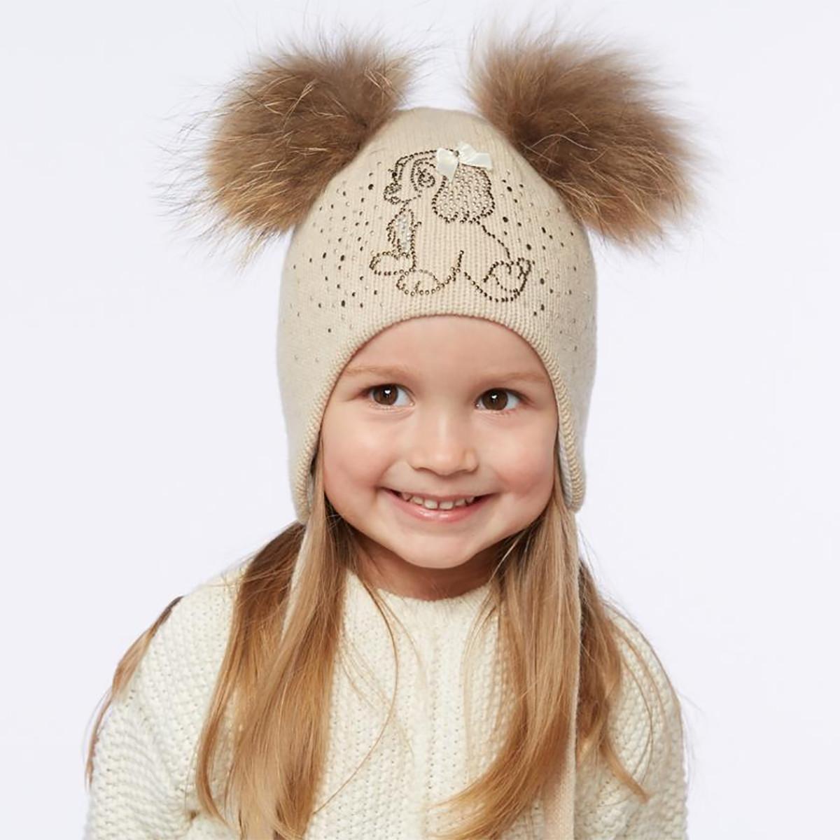 Зимняя шапка для новорожденного своими руками спицами