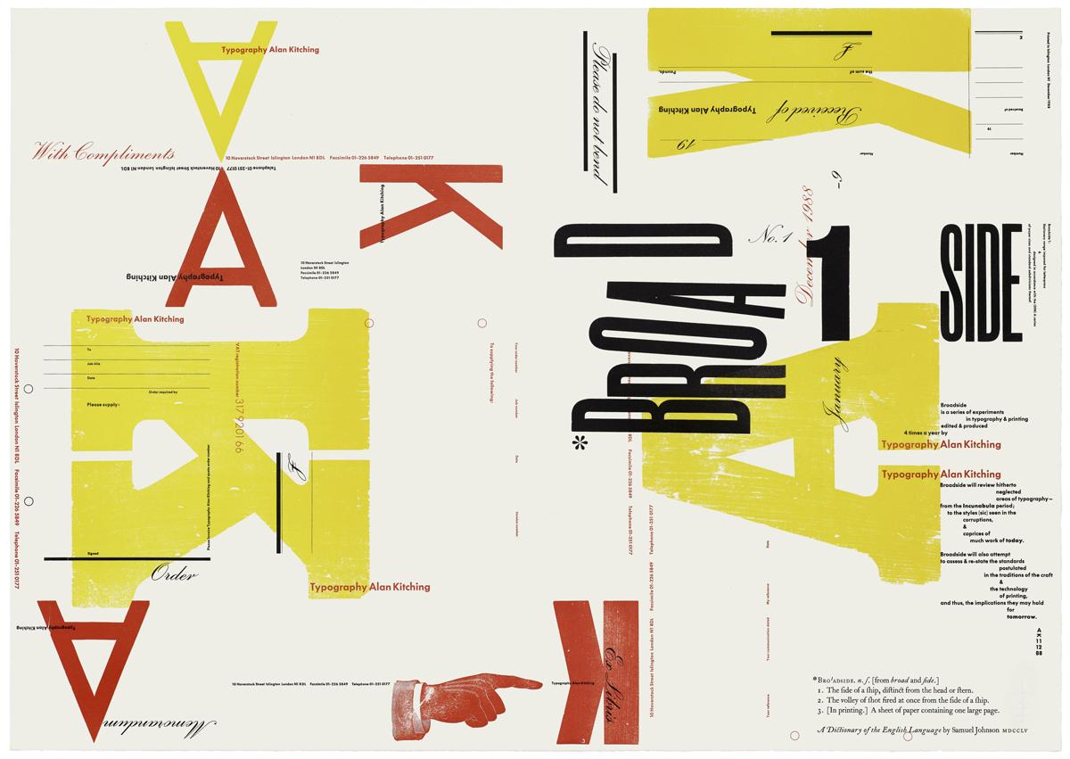 Broadside number 1, range of stationery, 1988