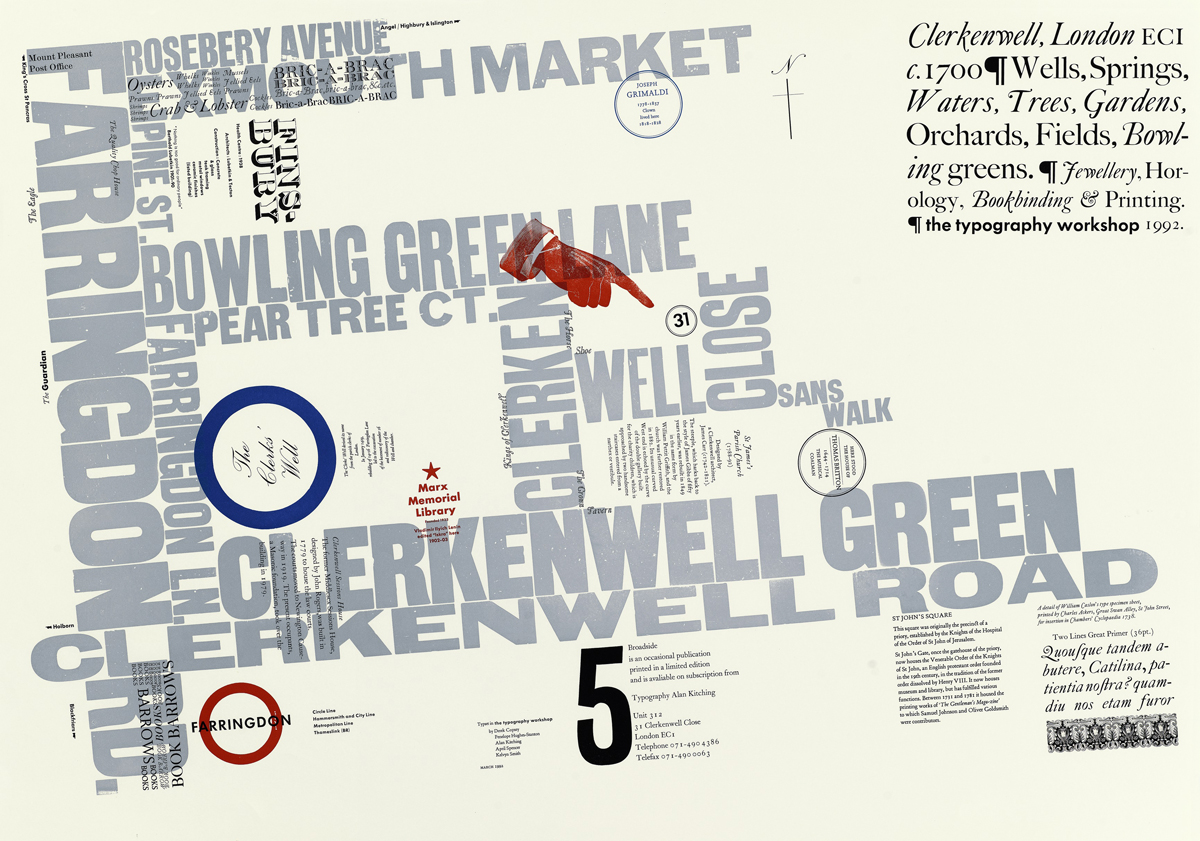 Top and above: From Alan Kitching's Broadside series of works, created in the 1980s and 90s