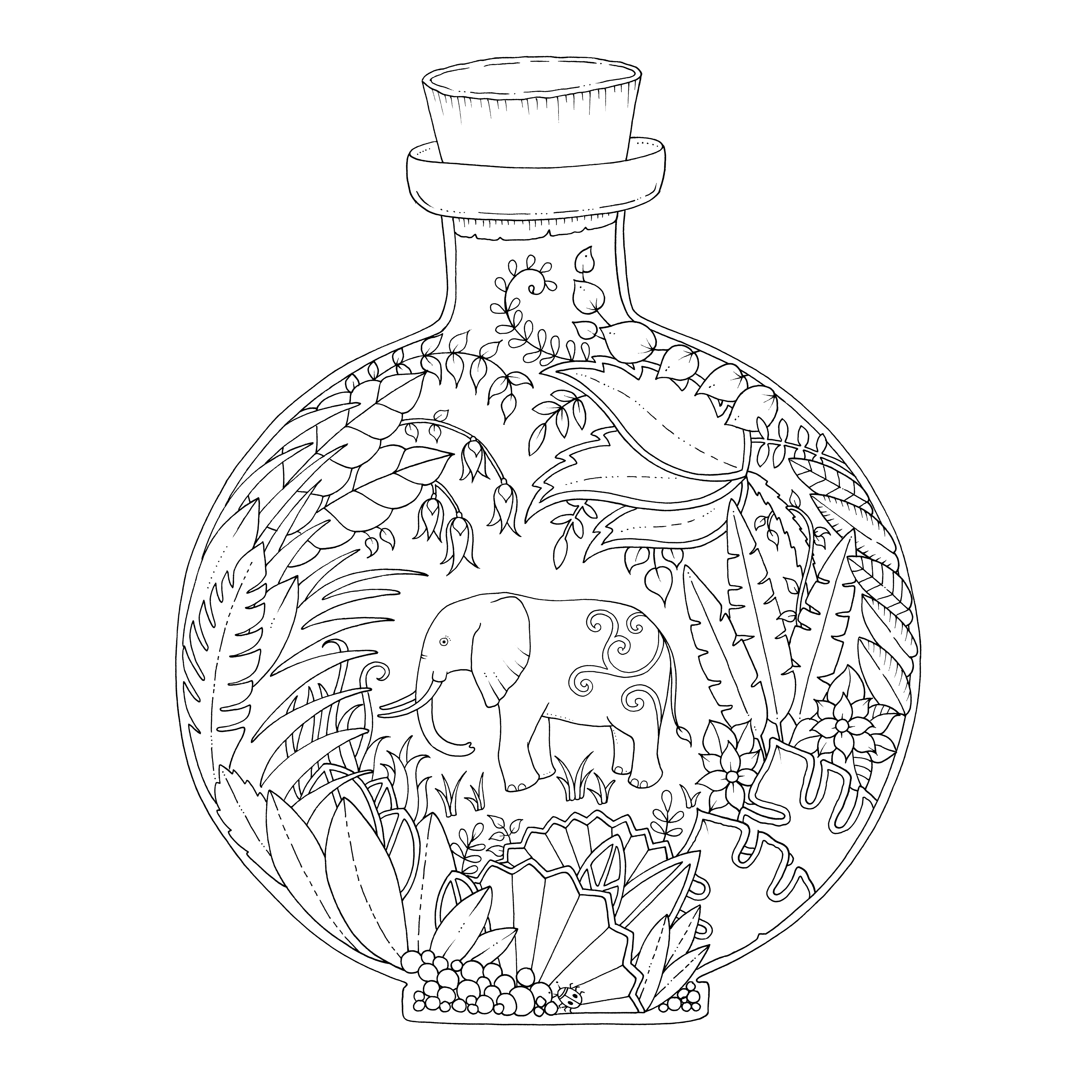 Раскраска антистресс джоанна басфорд джунгли