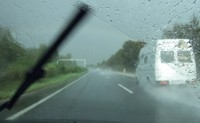 The AquaBlade is less likely to obstruct the driver's vision than conventional wipers
