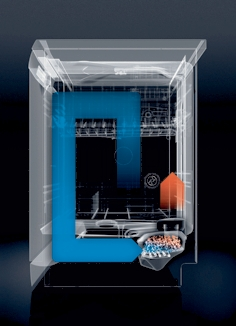 Cut and dry: The dishwasher uses 20 per cent less energy