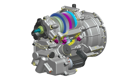 Antonov 3-speed powershift transmission for electric vehicles