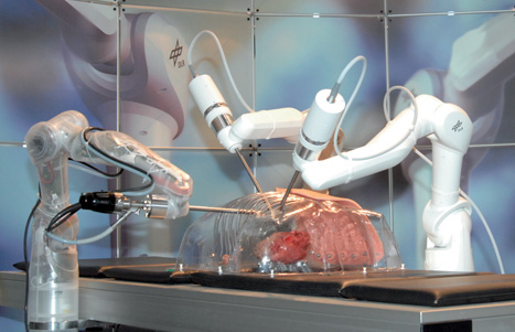 The Mirosurge system could one day be used to operate on a still beating heart