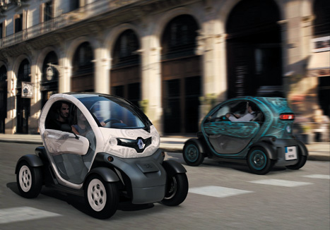 Whizzing around: the Twizy from Renault