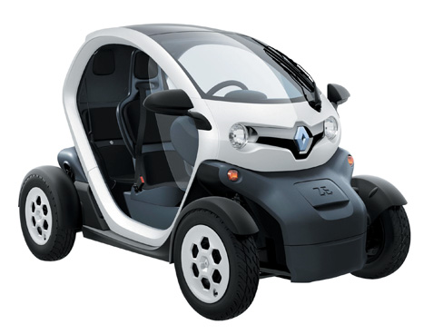Miniature: the compact design of Renault's Twizy holds an all-electric engine