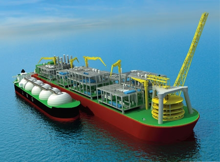 Shell's Prelude FLNG terminal