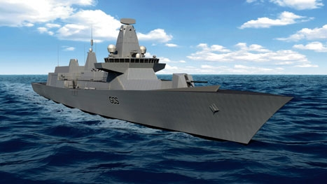 Multi-tasker: the ships will be used for anti-piracy missions as well as warfighting