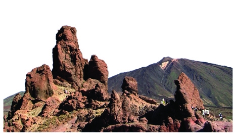 Seeing red: the striking landscape surrounding Mount Teide is reminiscent of the surface of Mars