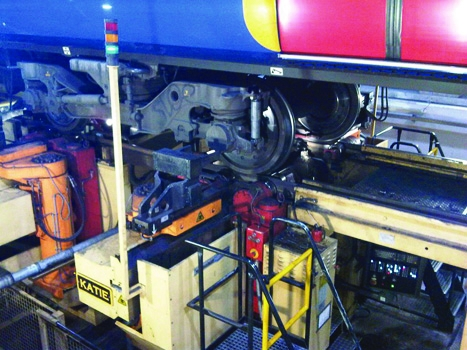 38 40 Underfloor wheel lathe at Southampton lr