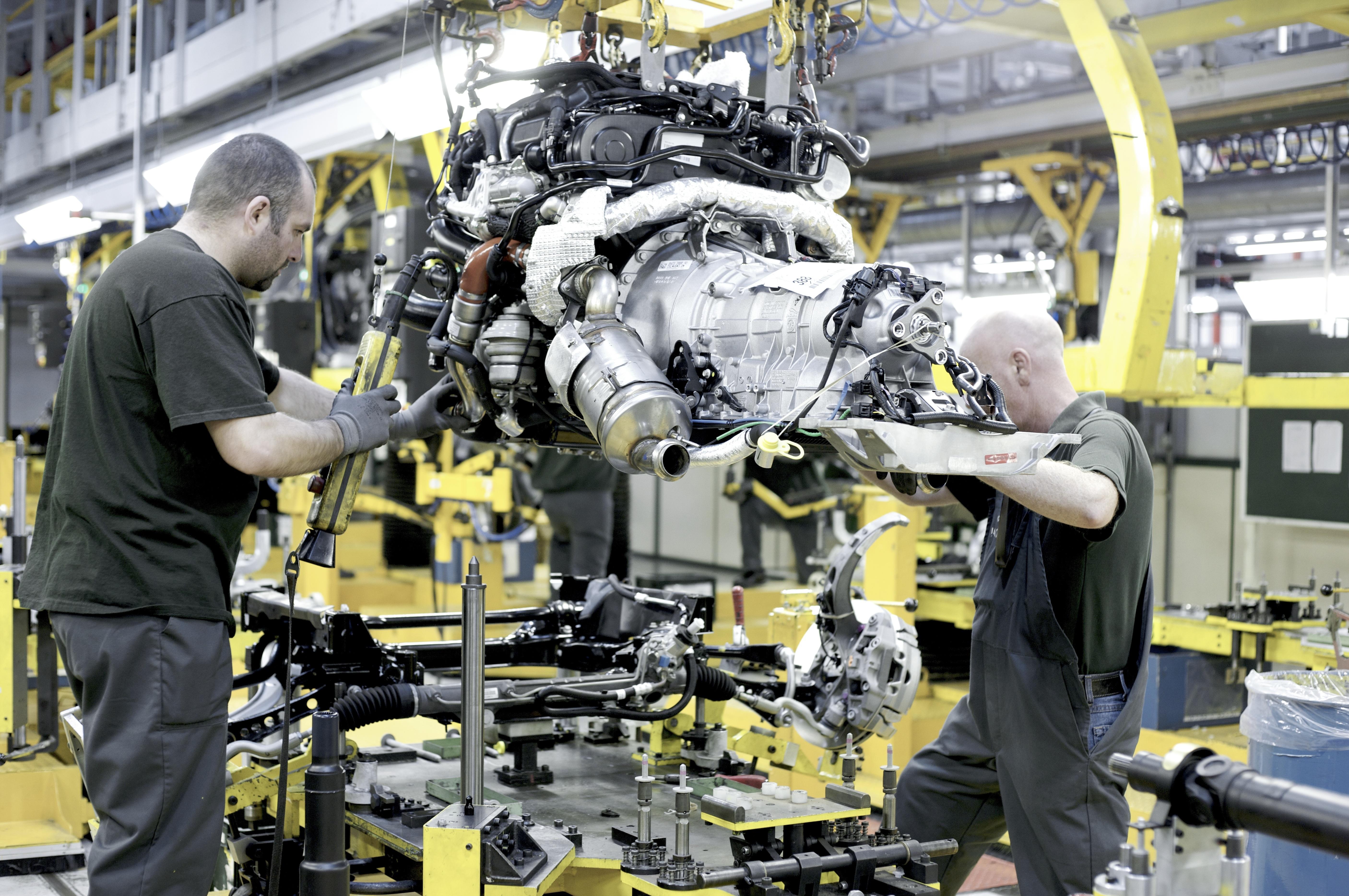 Jaguar Land Rover's Castle Bromwich plant