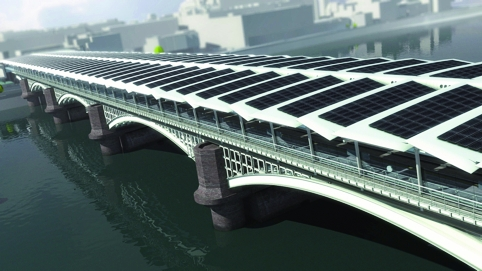 Solar Century's Blackfriars bridge installation