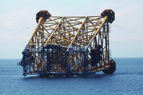 The huge jackets that will support the Clair Ridge platform were installed in summer 2013