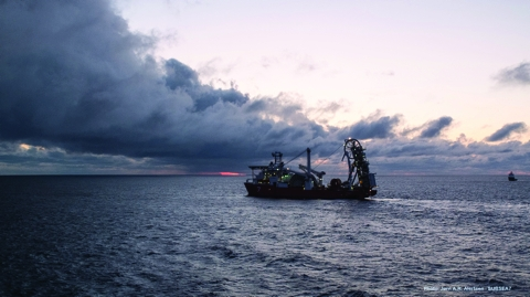 A specialist Subsea 7 vessel was used to lay the project's 125km long umbilical