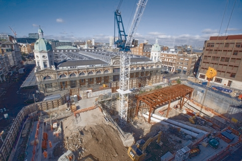 Crossrail Progress Team BFK FarringdonPictured the site of the East Ticket HallPicture David Poultney
