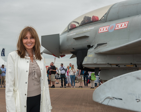 Carol Vorderman at RIAT