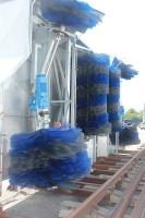 Train-washing facility
