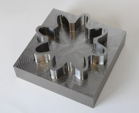 A time saving of more than 60 per cent was achieved when using Delcam's Vortex strategy to cut this titanium part