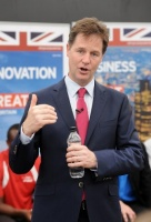 Nick Clegg at Farnborough