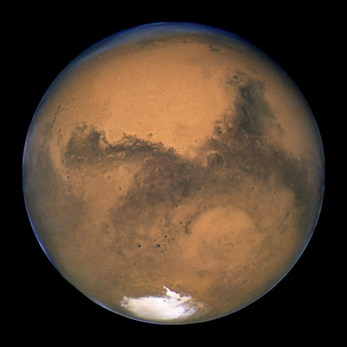 Image of Mars taken by the Hubble telescope