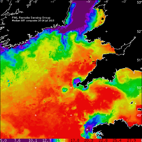 Sea-surface temperature measurements.