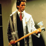 Christian Bale as American psycho Patrick Bateman: seems the Yanks  were ahead of the curve on this one