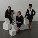 (l-r) Elizabeth Stephen, Rachel Small and Lesley Wan