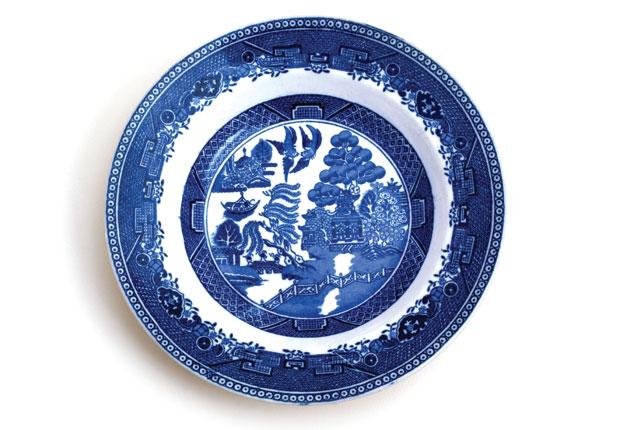 China Willow pattern plate