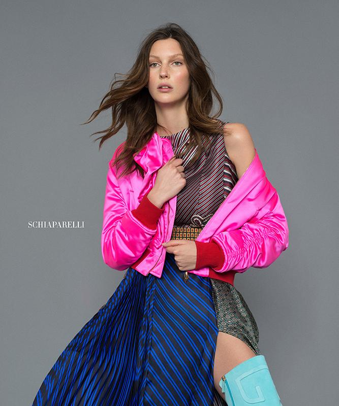 Veroniek Gielkens in Haute Couture by Benjamin Kanarek for Harper's Bazaar Latin America & Mexico