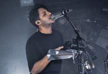 Picture of Young the Giant in concert with photography by Vivian Danielle