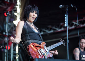 Picture of Joan Jett and the Blackhearts in concert by Deb Kloeden