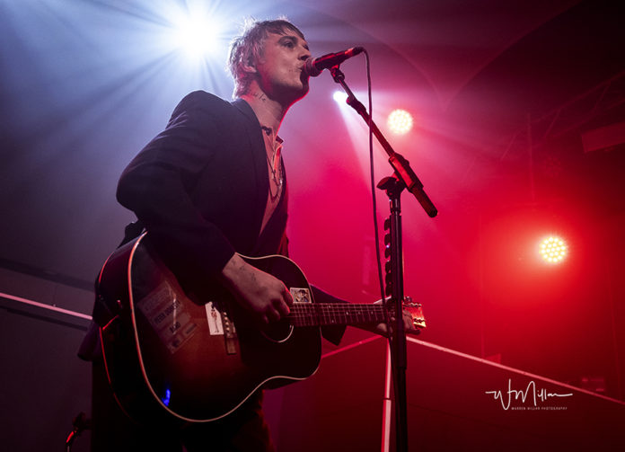 Picture of the Peter Doherty concert with photography by Warren Millar