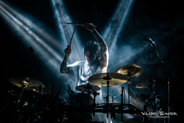 Picture of Daniel Erlandsson & Arch Enemy with German concert photography by Valerie Schuster