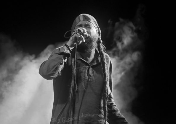 Picture of Conquering Lion in concert with reggae festival photography by David Gasson