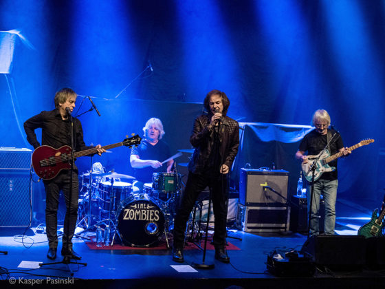 Picture of The Zombies in concert with rock concert photography by Kasper Pasinski