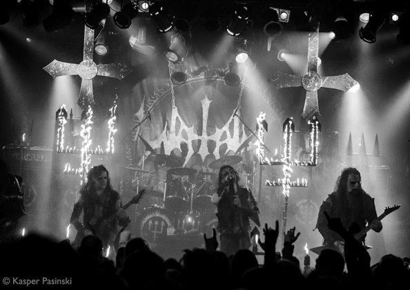 Picture of Watain in concert by the Denmark concert photographer Kasper Pasinski