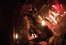 Picture of Watain in concert by the Denmark concert photographer Kasper Pasinski