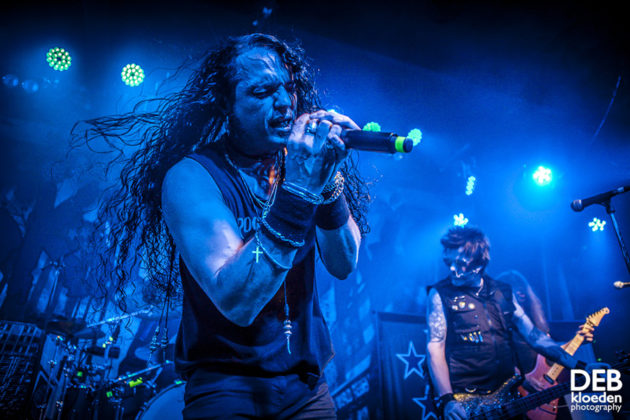 Picture of Skid Row in concert by Adelaide music photographer Deb Kloeden