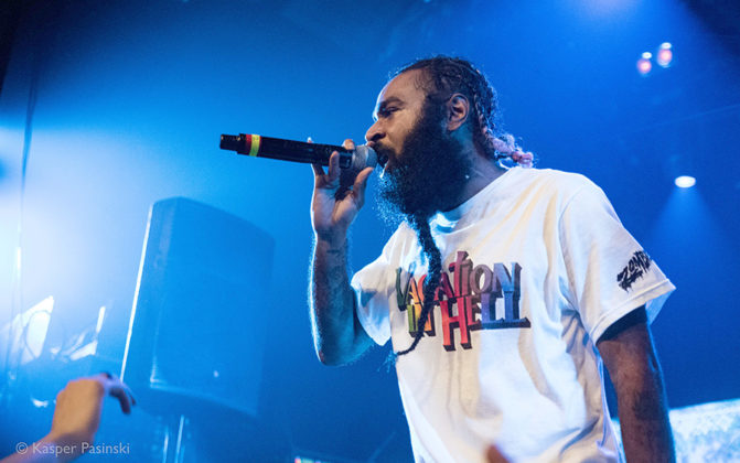 Picture of Hip Hop group Flatbush Zombies in concert by Denmark Music and Pit photographer Kasper Pasinski