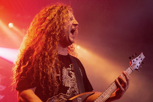 Picture of Voivod in concert by Poland Music photographer Norbert Burkowski