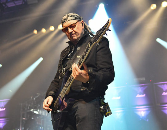 Picture of Saxon in concert by Sweden Music and Pit photographer Lennart Håård